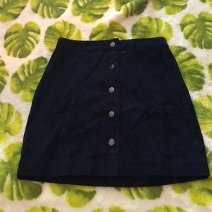 corduroy navy blue skirt
